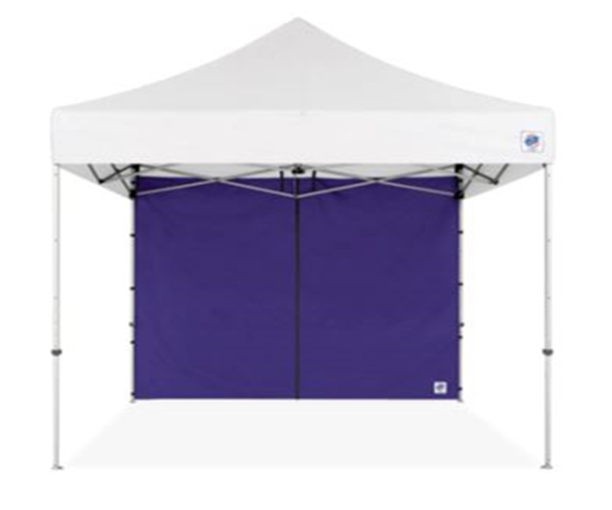 8x10 Folding Tent Walls With Middle Zipper White Party