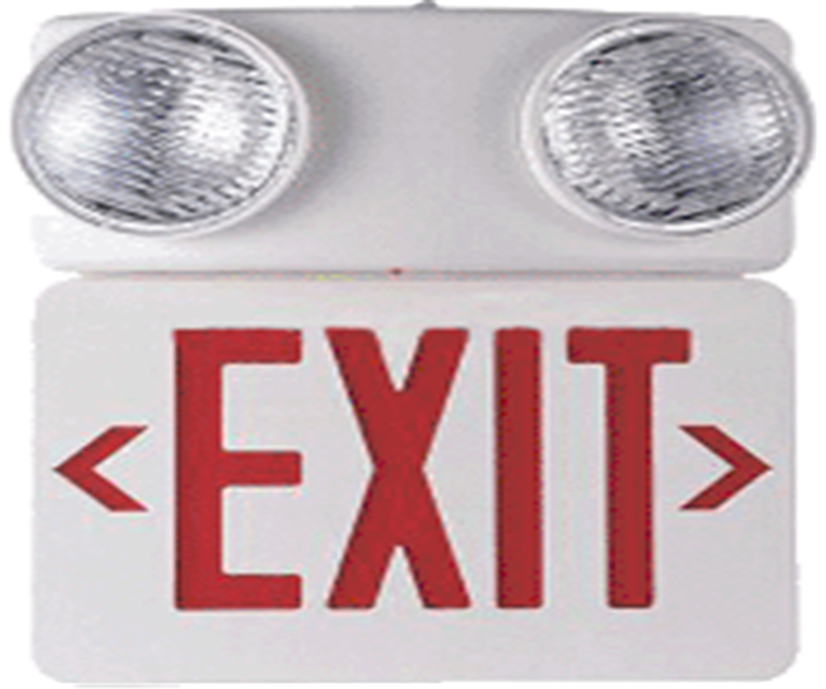 Emergency Exit Sign With Lamp Party Unlimited
